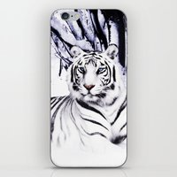 White Tiger iPhone & iPod Skin