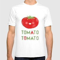 Tomato-Tomato Mens Fitted Tee White SMALL