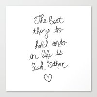 The Best Thing. Canvas Print