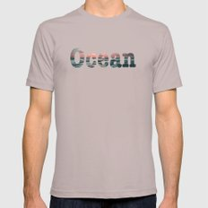 Ocean  6 Mens Fitted Tee Cinder SMALL