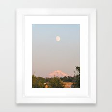 Moon Mountain Framed Art Print