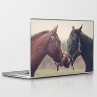 horses Laptop & iPad Skins featuring Horses  by Laura Ruth