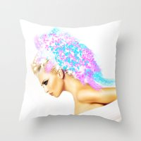THE BRIGHT SIDE OF AN ANGEL Throw Pillow