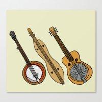 Banjo, Dulcimer, Resonat… Canvas Print
