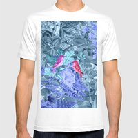 blue&birds Mens Fitted Tee White SMALL