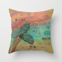 Wild Air Palm Throw Pillow