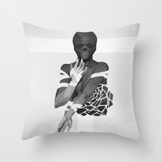 Undead Blossom Throw Pillow