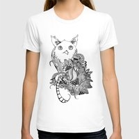 Inking Owl Womens Fitted Tee White SMALL