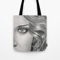 Half Portrait Tote Bag
