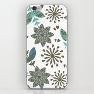 Floral Pattern #4G iPhone & iPod Skin