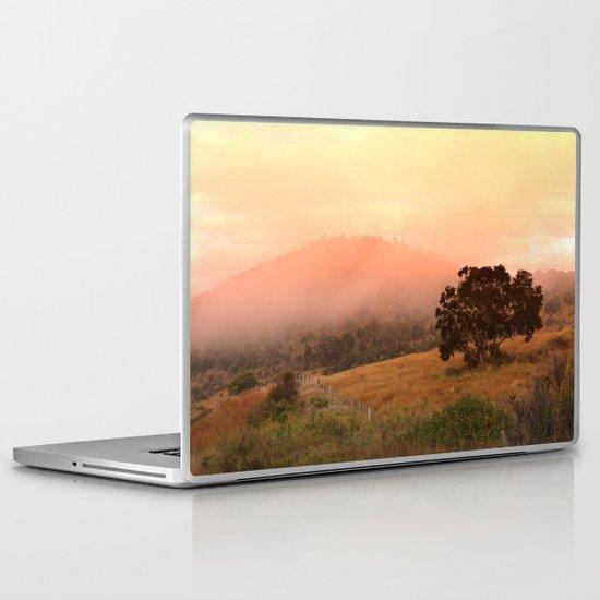 Early Fog In The Hills Laptop & iPad Skin