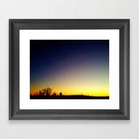 Granular Sunset 2 Framed Art Print