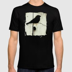 Early Bird - JUSTART © Black Mens Fitted Tee SMALL