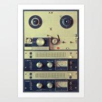 Analogue Recording Art Print