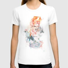I can't speak your language Womens Fitted Tee White SMALL