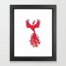 Phoenix Rising - Feng Shui Power Symbol  Framed Art Print
