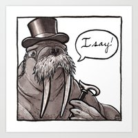 Fancy Walrus Art Print