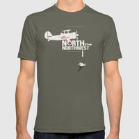 North by Northwest - Alfred Hitchcock Movie Poster Mens Fitted Tee Lieutenant SMALL