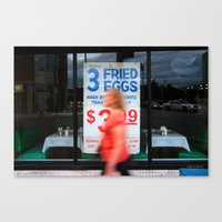 Fried Eggs on Broadway Canvas Print