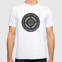 Mandala Mens Fitted Tee Ash Grey SMALL