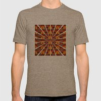 Woven Pixels I Mens Fitted Tee Tri-Coffee SMALL