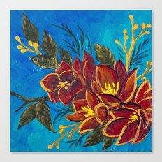 Amorous Amaryllis Canvas Print