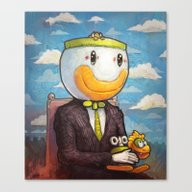 Canvas Print featuring Mario by Ronan Lynam