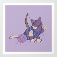 Cateye Of The Catvengers Art Print