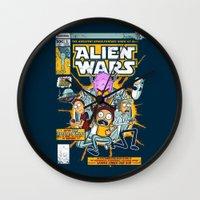Alien Wars Wall Clock