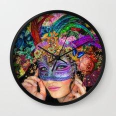 The Mascherari's Muse Wall Clock