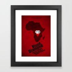 Blood Diamond Poster Framed Art Print