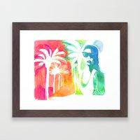 An injection of summer Framed Art Print