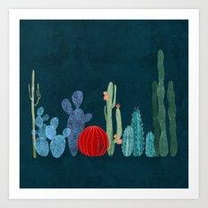 Cactus garden Art Print