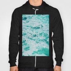 teal waves Hoody