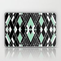 Art Deco Zoom Mint Laptop & iPad Skin