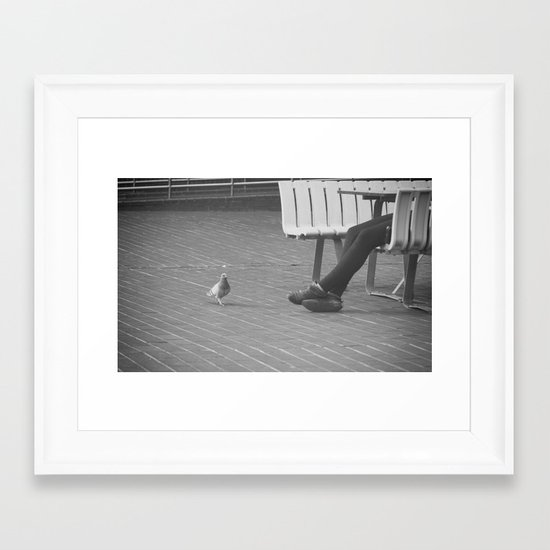 pigeon toes... Framed Art Print