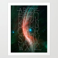 Alphabet in Outer Space Art Print