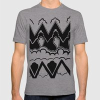 Vintage Pattern Mens Fitted Tee Athletic Grey SMALL