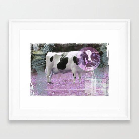 Milk comes from a bottle Framed Art Print