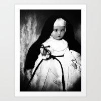 Storybook Nun  Art Print