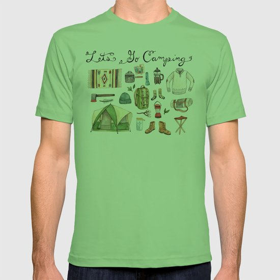 Let 39 s go camping t shirt by brooke weeber society6 for Cvs photo t shirt