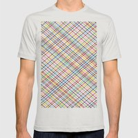 Rainbow Weave 45 Mens Fitted Tee Silver SMALL
