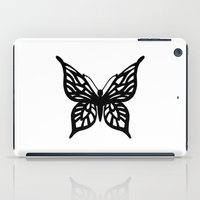 Butterfly Black on White iPad Case