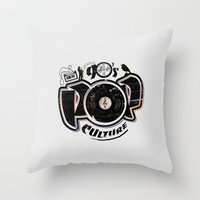 90's Pop Culture Throw Pillow
