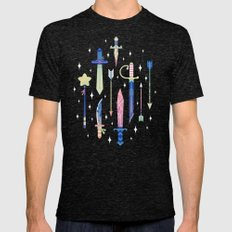 Magical Weapons Mens Fitted Tee Tri-Black SMALL