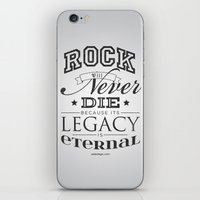 Rock will never die iPhone & iPod Skin