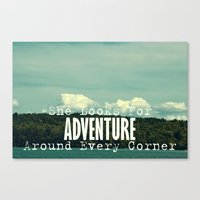 She Looks For Adventure  Canvas Print