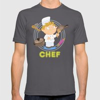 Chef Mens Fitted Tee Asphalt SMALL