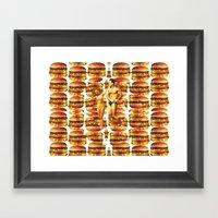 Hamburger Beach Framed Art Print