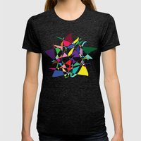 Cosmic Star Womens Fitted Tee Tri-Black SMALL